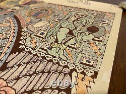 Original Grateful Dead Hand Drawn and Colored Poster Vintage