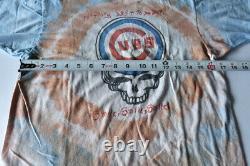Original Grateful Dead He's Gone Lot Tee Shirt Chicago Cubs Stealie Tie Dye VTG