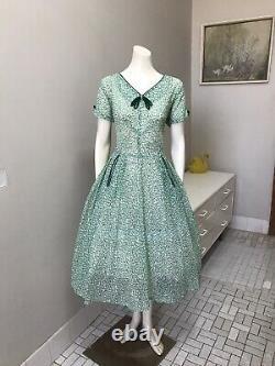 Original Vintage 50s Dress XL Size, NEW OLD SHOP STOCK, DEAD STOCK Rockabilly