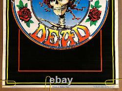 Original Vintage Poster Grateful Dead Black Light Pin Up Velvet Flocked 1996