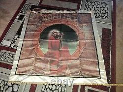 Pair Of Vintage Grateful Dead Satin Banners Blues For Allah 1984 & 20 Years 1985