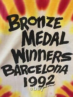 RARE! 1992 Vintage Lithuania Basketball Tee Grateful Dead T Shirt Tie Dye XL