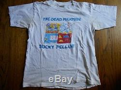 RARE ORIGINAL VINTAGE 1987 DEAD MILKMEN T Shirt BUCKY FELLINI PUNK ROCK INDIE