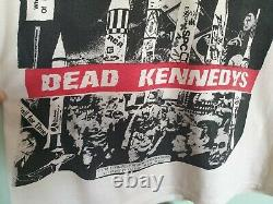 RARE Original Vintage 80s DEAD KENNEDYS WORLD WAR III Punk Tour Concert T-Shirt