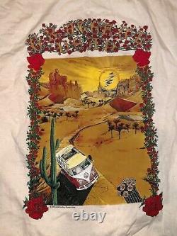 RARE Vintage Grateful Dead XL T-Shirt 1995 VW Bus Driving Through the Desert
