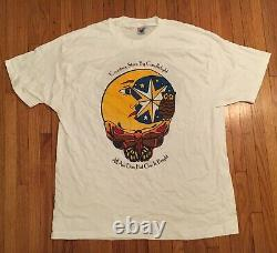 RARE deadstock vintage GRATEFUL DEAD counting stars T-SHIRT jerry Garcia XL