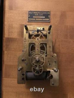 Self winding clock co. Battery electric WITH ID TAG 120 Beat movement 24 VOLT