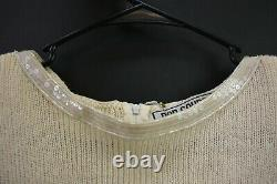 Size 10 Vintage Dead Stock Don Sayres Hand Loomed Sequins $550 Retial Dress