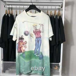 T shirt Vintage t shirt 90s'OVP Grateful Dead Shirt Golf Ball Golfing GDM 1994s