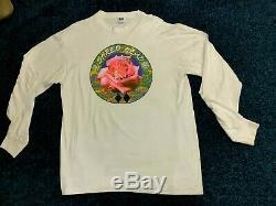 TRUE VINTAGE 1980's Grateful Dead T shirt No reprint authentic XL LONG SLEEVE