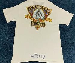 TRUE VINTAGE ULTRA RARE XL Grateful Dead 1991 White Sing Stitch Brockum T SHIRT