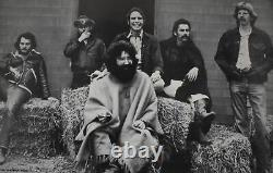 The Grateful Dead Jerry Garcia OOP 1970s Vintage sitting on a Straw Heap Poster