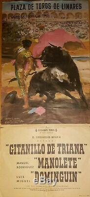 The Last Matador Vintage Poster of the Deadly Manolete Bullfight, August 8 1947