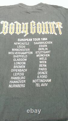USED Vintage Original T-Shirt XL Body Count Ice-T 1994 Born Dead Euro Tour