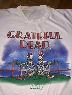 VINTAGE 1981 GRATEFUL DEAD T-Shirt 40 year old Tee EXCELLENT! Dead Set Album