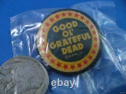 VINTAGE 80S GOOD OL' GRATEFUL DEAD TOUR PIN lapel button pinback art greatful