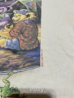 VINTAGE 90s GRATEFUL DEAD LL RAIN LL BEAN 1995 LIQUID BLUE T SHIRT XL RARE