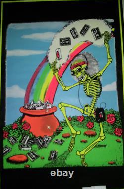 VINTAGE BLACKLIGHT POSTER Relix Rainbow (Grateful Dead) Cassette Tape RARE Jam