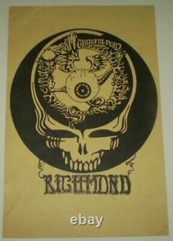 VINTAGE, GRATEFUL DEAD POSTER, RICHMOND, circa 1980's, 17 x 11, PSYCHEDELIC