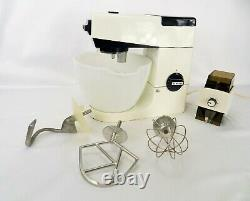 VINTAGE KENWOOD CHEF A701A MIXER 3x MIXING ENDS ORIGINAL BOWL & COFFEE GRIND O20