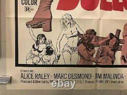 VINTAGE MOVIE POSTER 1972 Dead End Dolls One Sheet 27x41 Original Sexploitation