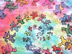 VTG 1989 GDM Grateful Dead Shirt (L) Liquid Blue Dancing Bears Spiral Tie Dye