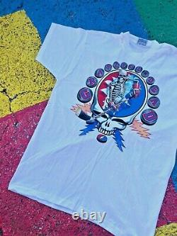 VTG 1994 RARE Grateful Dead New York City Fall Tour 1994 Hockey Graphic Shirt XL