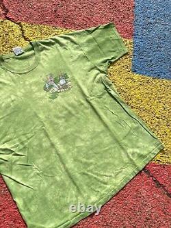 VTG 1996 Grateful Dead Green Tie Dye Golf Tour Shirt Rare USA GDM Liquid Blue XL
