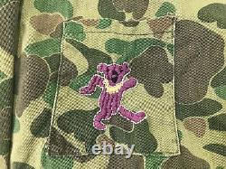 VTG 50's Kamo Duck Hunting Frogskin Camo Field Jacket Grateful Dead Embroidered