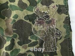 VTG 50s Duck Hunting Frogskin Camo Field Pants Embroidered Grateful Dead Fan Art