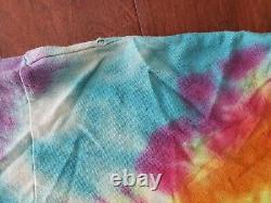 VTG 90s Space Your Face Tie Dye Grateful Dead Large Shirt Fruit of Loom Holes