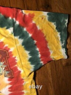 VTG Original 90s Lithuania Grateful Dead Basketball Tie Dye Rap Tee T Shirt L