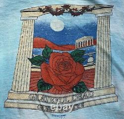 VTG THE GRATEFUL DEAD Concert T Shirt 1984 Greek Theatre UC Berkeley Tie Dye M