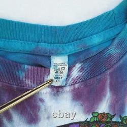 VTG Tie Dye Grateful Dead Bears Roses T Shirt Men's XL 2000