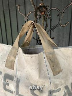 Vintage 1950 Felsen Coal Bag Canvas Tote Workwear Americana Made In USA VTG Beat