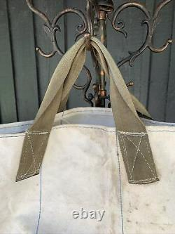 Vintage 1950s Canvas Coal Bag Canvas Tote Workwear Americana Made In USA Beat