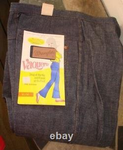 Vintage 1960 s NEW womens jeans Wrangler waist 28 NOS dead stock NWT size 2
