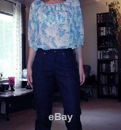 Vintage 1960 s womens jeans Wrangler waist 28 NOS old dead stock NWT size 2