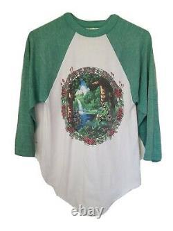 Vintage 1984 Grateful Dead Ragland T Shirt Baseball Style Size M, 80's Dead Head