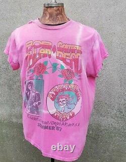 Vintage 1987 Grateful Dead Dead Ahead Bob Dylan Summer 1987 Concert T Shirt