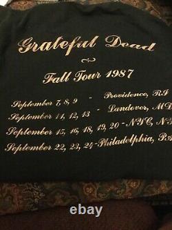 Vintage 1987 Grateful Dead Fall Tour CONCERT TOUR TSHIRT shirt REAL ORIGINAL! L