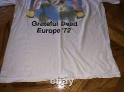 Vintage 1990 Grateful Dead T Shirt Tie Dye Europe 72 25 Year ANNIVERSARY