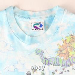 Vintage 1993 Grateful Dead Songs Fill The Air Tie Dye Shirt