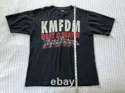 Vintage 1995 KMFDM Tour T Shirt Original Beat By Beat Industrial Band Goth Metal