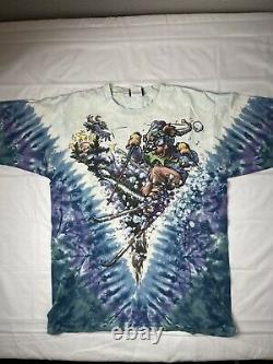 Vintage 1996 Grateful Dead Tie Dye Concert T-Shirt Skiing M Super Rare