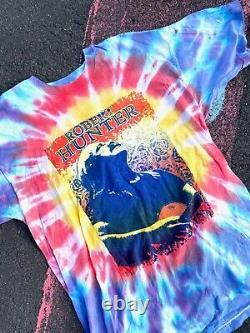 Vintage 1997 Robert Hunter RARE Grateful Dead our NEW tie dye band shirt sz XL