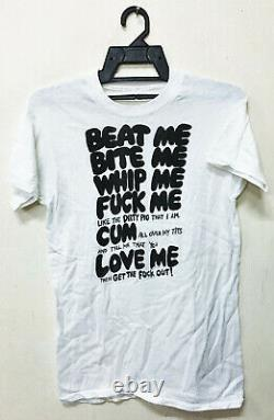 Vintage 70 Beat Me Bite Whip As Worn By Adam Ant Joan Jett T-shirt Seditionaries