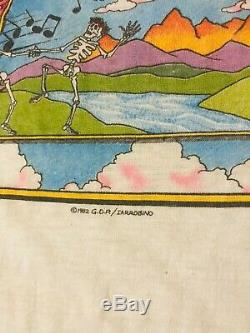 Vintage 80s 1982 Grateful Dead Concert Tour Baseball T-Shirt Garcia Jam Band