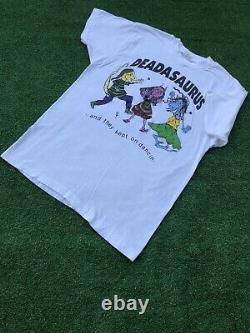 Vintage 80s GRATEFUL DEAD DEADASAURUS KEPT ON DANCING DEADHEAD t-shirt LARGE