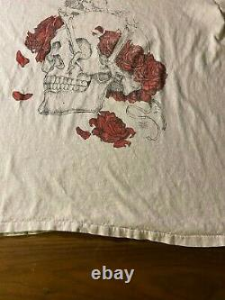 Vintage 80s Grateful Dead Rose Skull T Shirt size Large single stitch original